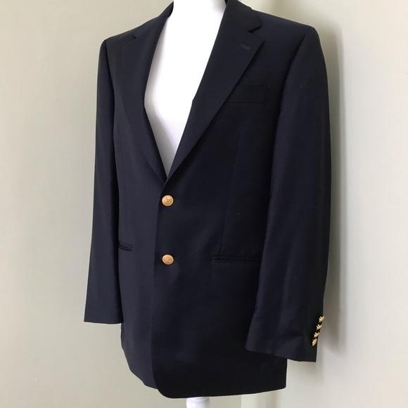 Lauren Ralph Lauren 100% Wool Blue Suit Jacket